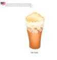 Teh Tarik A Famous Beverage in Malaysia vector image vector image