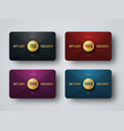 templates of premium gift cards with a golden vector image vector image