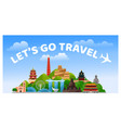 travel to asia asian travel poster web banner vector image vector image