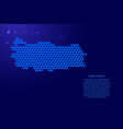 turkey map from 3d blue cubes isometric abstract