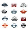 usa stamp design set vector image