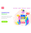 website competitive product in phone vector image
