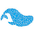 whale made of hearts vector image
