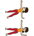 yoga asana set side plank pose modifications with vector image vector image