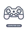 icon game pad joystick vector image