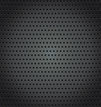 Steel background with circle perforated texture vector image