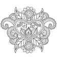 Coloring pages for adults Henna Mehndi Doodles vector image
