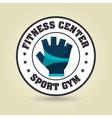 glove sport gym icon vector image