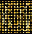 abstract gold bright background with square shapes vector image