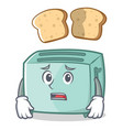 afraid toaster character cartoon style vector image vector image