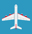 airplane of top view aircraft icon in flat style vector image vector image