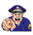 angry policeman vector image vector image