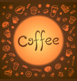 background with a pattern of a cups of coffee vector image