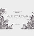 background with lilies of the valley vector image