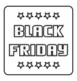 Black friday emblem icon outline style vector image vector image