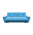 blue luxury sofa for modern living room reception vector image