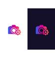 camera service logo vector image vector image