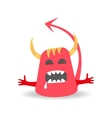 Cartoon cute Devil Monster on white background vector image vector image