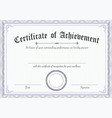 classic and retro certificate of achievement vector image