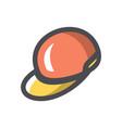 color rap cap icon cartoon vector image