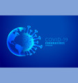coronavirus and earth outburst concept background vector image vector image