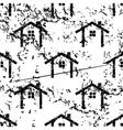 Cottage pattern grunge monochrome vector image vector image