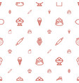 dessert icons pattern seamless white background vector image vector image