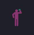 drunkard computer symbol vector image