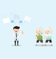 elderly rehabilitation with regular physical vector image vector image