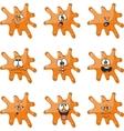 Emotion smiles cartoon orange blot color set 010 vector image vector image
