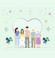 family vaccination concept design people get vector image vector image