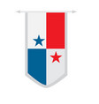 flag of panama on a banner vector image vector image
