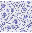 flowers swirls vector image vector image
