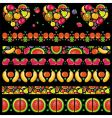 fruity juicy patterns vector image vector image