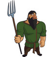 funny medieval farmer vector image vector image