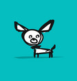 funny small dog sketch for your design vector image
