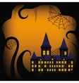 Halloween background border with castle vector image vector image