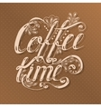 Hand drawn typography lettering phrase coffee time