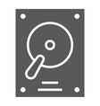 hard disk glyph icon electronic and device hdd vector image vector image