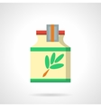 Herbal cough syrup flat color icon vector image