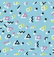 hipster geometric memphis style sameless pattern vector image vector image