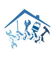 home repairs with a tool vector image