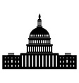 icon of capitol building vector image