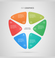 infographics design business concept vector image vector image