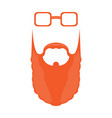 isolated abstract hipster avatar vector image vector image