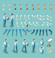 isometric character constructor vector image vector image