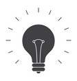 light bulb silhouette vector image vector image