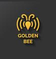 logo bee honey vector image vector image