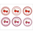 Logo strawberries and raspberries vector image vector image