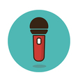 Microphone icon Musical sign vector image vector image